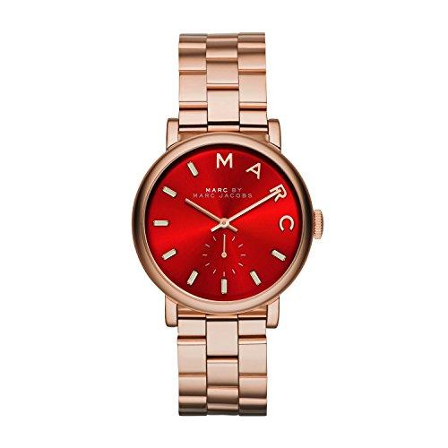 Marc Jacobs MBM3344 - Reloj de Cuarzo para Mujer, Correa de Acero Inoxidable Color Oro Rosa