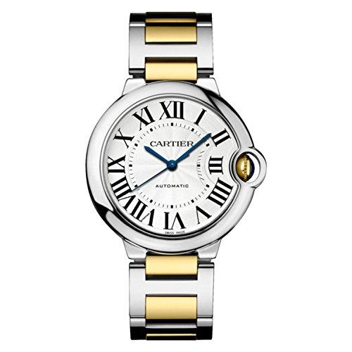 Cartier Ballon Bleu Plata Dial Automático Unisex Reloj w2bb0012