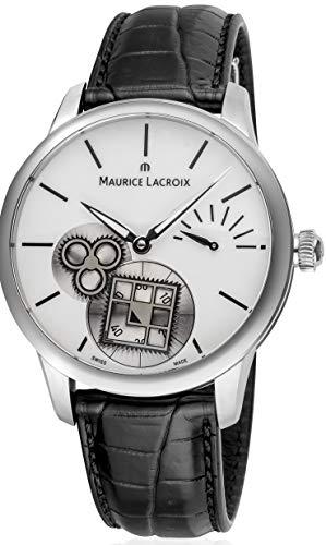 Maurice Lacroix Masterpiece Reloj de pulsera para hombre con esfera plateada MP7158SS001101