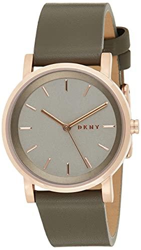 DKNY Reloj Analógico para Mujer de Cuarzo con Correa en Cuero NY2341