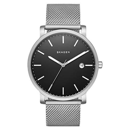 Skagen Hagen - Reloj de Acero Inoxidable Plateado con Tres manecillas para Hombre - SKW6314