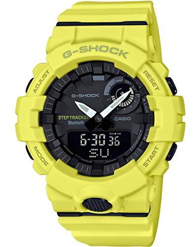Casio Reloj Digital para Hombre de Cuarzo con Correa en Resina GBA-800-9AER, Amarillo Neón