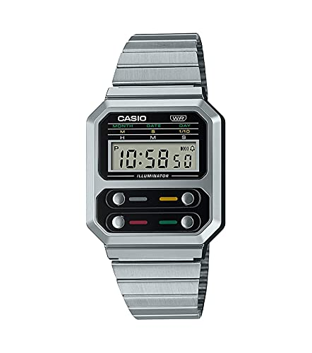 Reloj Casio Collection Vintage Series Digital Silver A100WE-1AEF
