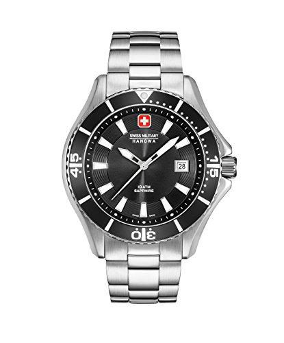 Swiss Military Hanowa Reloj Analógico para Hombre de Cuarzo con Correa en Acero Inoxidable 06-5296.04.007