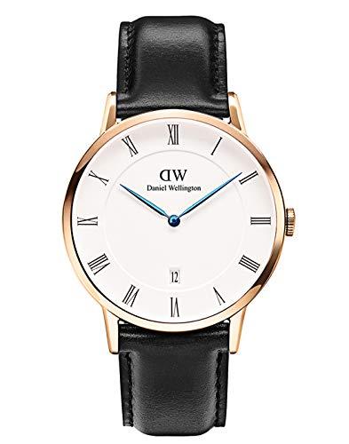 Daniel Wellington Reloj Analógico para Hombre de Cuarzo con Correa en Cuero DW00100084