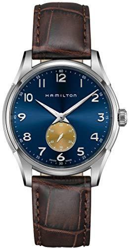Hamilton H38411540 Jazzmaster Thinline - Reloj de cuarzo para hombre con esfera azul