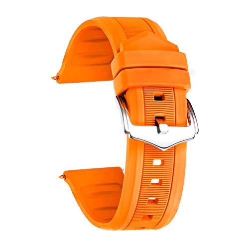 BINLUN Correa Reloj Silicona 7 Colores Correas de Goma Repuesto para Hombres y Mujeres (12mm /14mm/16mm/18mm/19mm/20 mm/21mm/22mm/23mm/24mm/26mm/28mm)