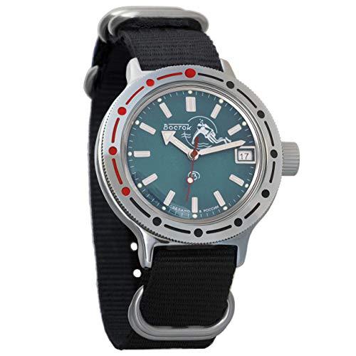 Vostok Reloj de pulsera automático para hombre Amphibian con cuerda automática para buzo militar anfibia caso reloj de pulsera #420059