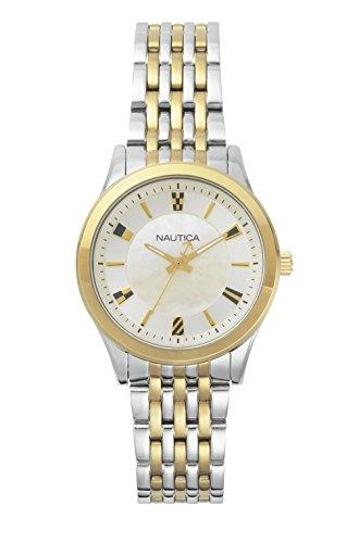 Nautica Reloj Análogo clásico para Mujer de Cuarzo con Correa en Acero Inoxidable NAPVNC004