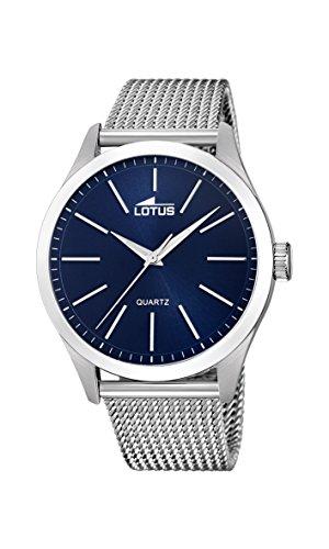 Lotus Watches Reloj Análogo clásico para Hombre de Cuarzo con Correa en Acero Inoxidable 18570/2