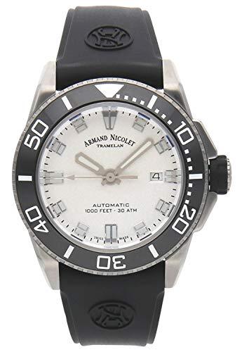 Reloj armand nicolet js9 a480agn-ag-gg4710n automático Reloj para Hombre Analógico de Automático con Brazalete de Goma A480AGN-AG-GG4710N