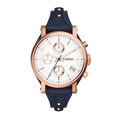 Fossil ES3838 Original Boyfriend Reloj de Cuero cronógrafo para Mujer