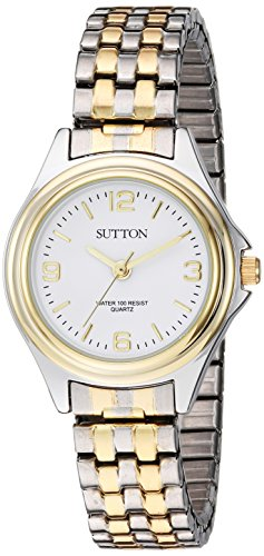 Sutton by Armitron SU/1010WTTT - Reloj de pulsera para mujer