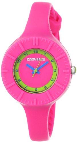 Converse The Skinny - Reloj analógico de mujer de cuarzo con correa de silicona rosa - sumergible a 30 metros