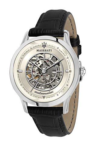 Maserati Reloj Analógico para de los Hombres de Cuarzo con Correa en Cuero R8821133006