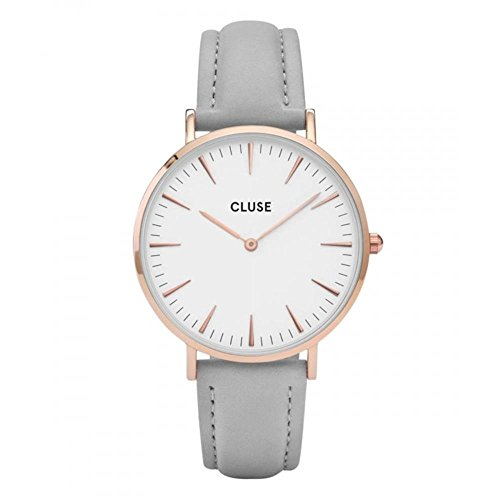 Cluse Reloj Analógico Automático para Mujer con Correa de Cuero – CL18015