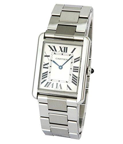 Cartier Tank Solo - Reloj (Reloj de Pulsera, Unisex, Acero Inoxidable, Acero Inoxidable, Acero Inoxidable, Acero Inoxidable)