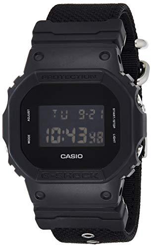 Casio G-SHOCK Reloj Digital, 20 BAR, Negro, para Hombre, con Correa de Cordura nylon, DW-5600BBN-1ER