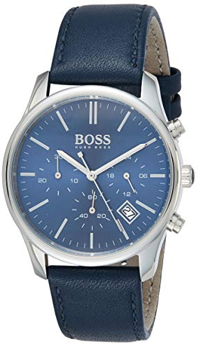 Hugo Boss 1513431, Reloj para Hombre, color Azul