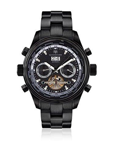 Mathis Montabon 100023-U - Reloj para Hombres, Correa de Acero Inoxidable Color Negro
