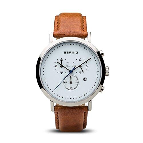 Bering 10540-504 - Reloj de Pulsera para Hombre, Correa de Piel, Color marrón