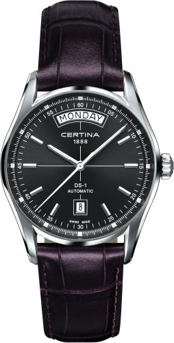 Certina 1888 – Swiss Made - Reloj, con Correa de Acero Inoxidable, de Color Negro