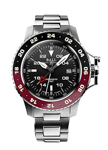 Reloj de pulsera para hombre con esfera de hidrocarburo AeroGMT II, fecha, GMT, analógico, automático, DG2018C-S3C-BK