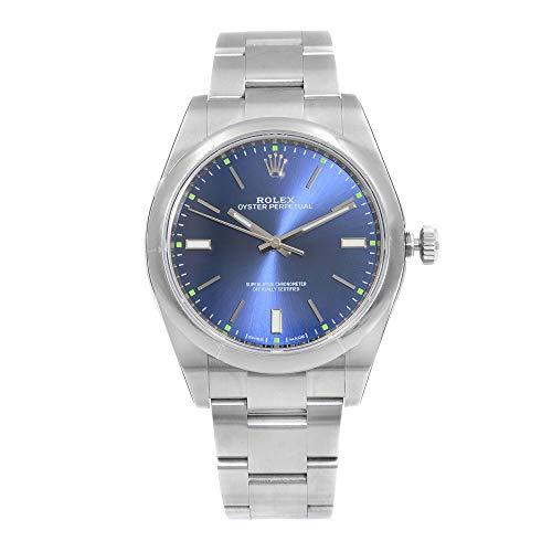 Rolex Oyster Perpetual 39 reloj automático de los hombres de esfera azul 114300BLSO