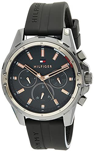 Tommy Hilfiger Reloj Analógico para Hombre de Cuarzo con Correa en Silicona 1791792