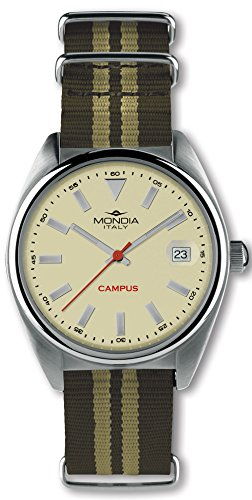 Mondia Campus Reloj para Hombre Analógico de Cuarzo con Brazalete de Nylon MI728-2CT