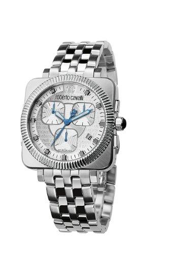 Roberto Cavalli R7273666045 - Reloj Unisex de Cuarzo, Correa de Acero Inoxidable Color Plata