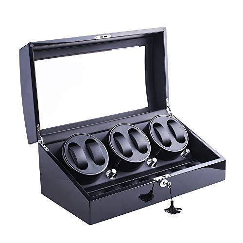Caja giratoria para relojes DUKWIN para 6 + 7 relojes, con motor silencioso, rotación, 6 – 7 veces aprox. 6 – 7 veces por minuto