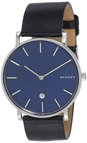 Skagen Reloj Analógico para Hombre de Cuarzo con Correa en Cuero SKW6471