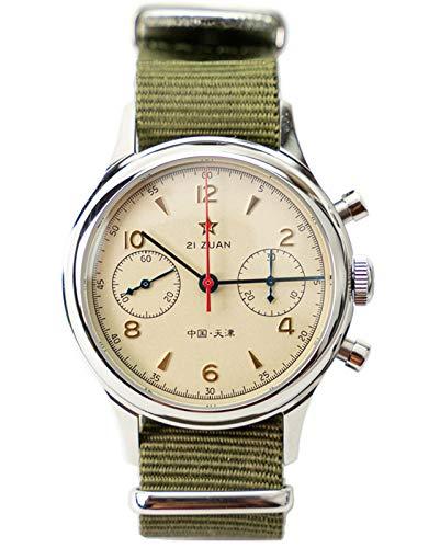 Seagull ST1901 Movimiento Zafiro Cristal Reloj Cronógrafo Hombre 1963