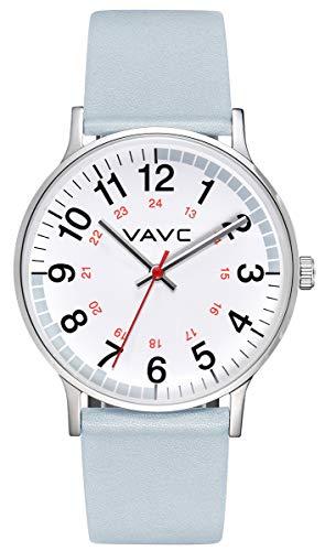 VAVC Reloj de enfermera para médicos, estudiantes y profesionales médicos con segunda mano, fácil de leer
