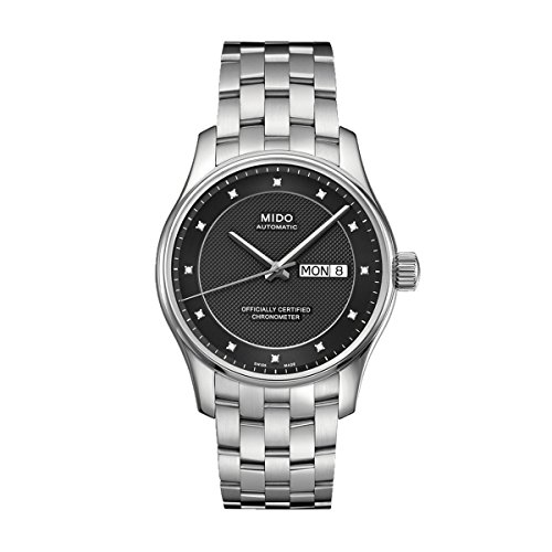 Mido Belluna M0014311106692 - Reloj para Hombres, Correa de Acero Inoxidable Color Plateado