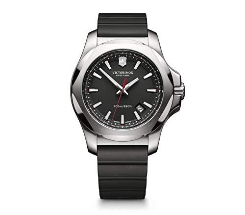 Victorinox Hombre I.N.O.X. - Reloj de Acero Inoxidable/Caucho de Cuarzo analógico de fabricación Suiza 241682.1