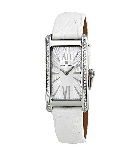 Maurice Lacroix Fiaba FA2164-SD531-114 - Reloj de pulsera para mujer con esfera plateada y diamantes