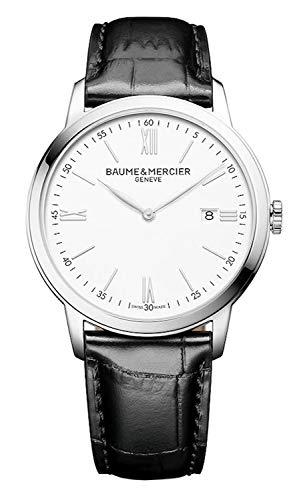 Baume et Mercier Classima esfera blanca 42mm reloj para hombre 10414