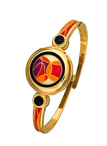 Andre Mouche NEOLIA 880-04051 - Reloj de Pulsera para Mujer (14 x 16,5 cm), Color Dorado y Negro y Naranja