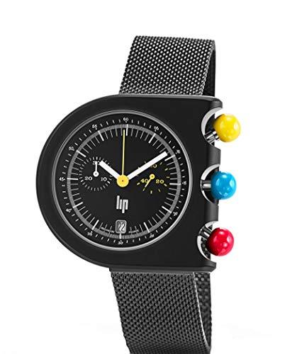 Lip Mach 2000 H671M085 - Reloj para Hombre, diseño de cronómetro, Color Negro