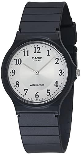 Casio MQ-24-7B3LLEF - Reloj analógico de Cuarzo para Hombre con Correa de Resina, Color Negro