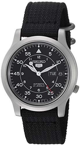 Seiko SNK809 - Reloj de Pulsera para Hombre, Negro/Negro