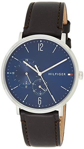 Tommy Hilfiger Reloj Multiesfera para Hombre de Cuarzo con Correa en Cuero 1791508