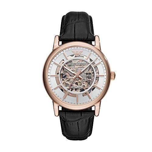 Emporio Armani Reloj Analogico para Hombre de Automático con Correa en Piel AR60007