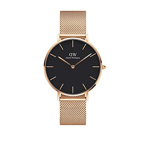 Daniel Wellington Petite Melrose Reloj , Unisex, Metálico, Oro Rosado, 36mm