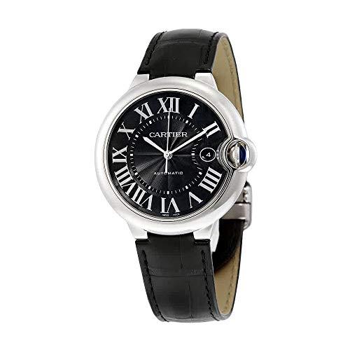 Cartier Ballon Bleu 42mm Piel de Color Negro Reloj para Hombres wsbb0003