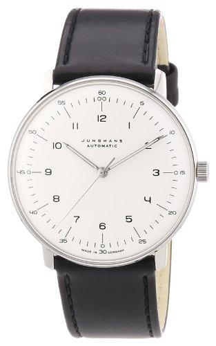 Junghans MAX Bill 027/3500.00 - Reloj de Caballero automático, Correa de Piel Color Negro