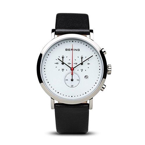 Bering 10540-404 - Reloj de Pulsera para Hombre, Correa de Piel, Color Negro