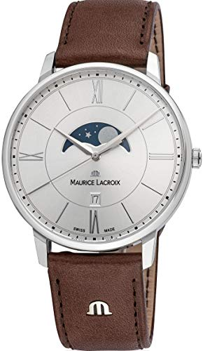 Maurice Lacroix Eliros MOONPHASE - Reloj de pulsera para hombre, diseño de fase lunar